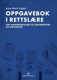 Oppgavebok i rettslære - Anne Marit Vigdal pdf epub