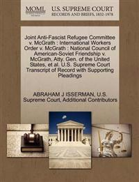 Joint Anti-Fascist Refugee Committee V. McGrath