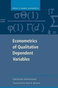 Econometrics of Qualitative Dependent Variables