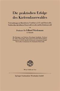 Die Praktischen Erfolge Des Kieferndauerwaldes