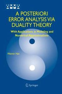 A Posteriori Error Analysis Via Duality Theory