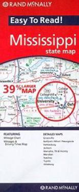 Rand McNally Easy to Read! Mississippi State Map