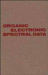 Organic Electronic Spectral Data, Volume 30, 1988,