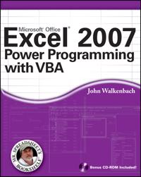 Excel 2007 Power Programming with VBA [With CDROM]