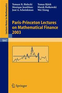 Paris-Princeton Lectures on Mathematical Finance 2003