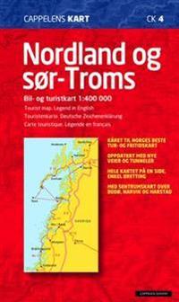 Nordland og Sör Troms Cappelen Norge CK4 karta - 1:400000