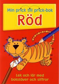 Min prick till prick bok Röd