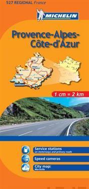 Provence Alpes Michelin 527 delkarta Frankrike : 1:200000