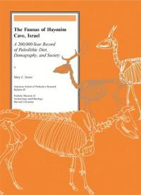 The Faunas of Hayonim Cave, Israel