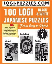 100 Logi Black & White Japanese Puzzles: Easy to Hard