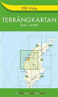 550 Visby Terrängkartan : 1:50000