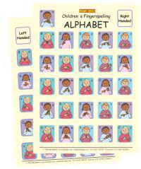 Let's Sign BSL Children's Fingerspelling Alphabet Charts