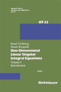 One-dimensional Singular Integral Equations