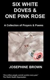 Six White Doves & One Pink Rose