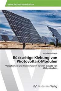 Ruckseitige Klebung Von Photovoltaik-Modulen