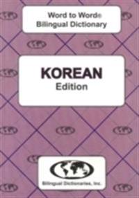 English-KoreanKorean-English Word-to-Word Dictionary