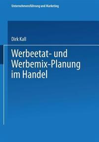 Werbeetat- und Werbemix-Planung Im Handel