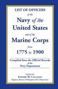 List of Officers of the Navy of the United States and of the Marine Corps from 1775-1900