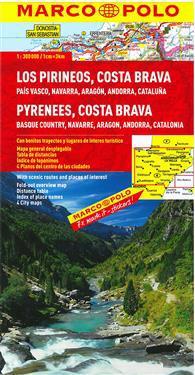 MARCO POLO Spanien 3/4. Pyrenäen, Costa Brava, Baskenland, Navarra, Aragon, Andorra, Katalonien 1 : 300 000 Regionalkarte
