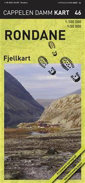 Rondane Fjellkart Cappelen CK46 - 1:50000-1:100000