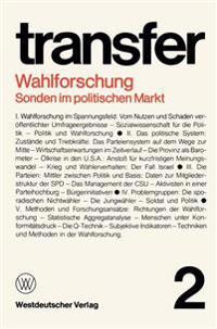 Wahlforschung: Sonden im Politischen Markt