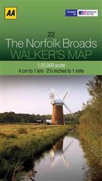 Aa the Norfolk Broads Walker's Map