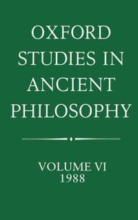 Oxford Studies in Ancient Philosophy, 1988