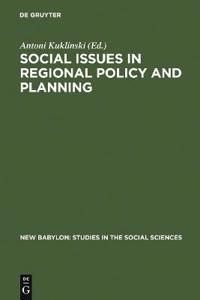 Social Issues in Regional Policy and Regional Planning