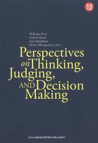Perspectives on Thinking, JudgingDecision-Making