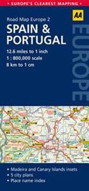 AA Road Map Spain & Portugal