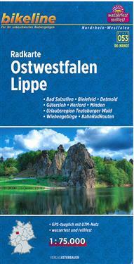 Bikeline Radkarte Ostwestfalen, Lippe 1 : 75.000
