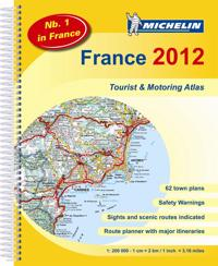 Frankrike 2012 Atlas Michelin A4 : 1:200000