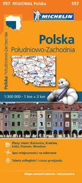 Poland South West - Michelin Regional Map 557