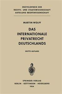 Das Internationale Privatrecht Deutschlands