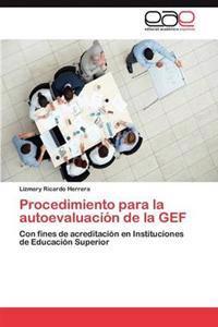 Procedimiento Para La Autoevaluacion de la Gef