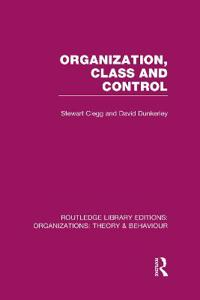 Organization, Class and Control