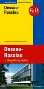 Falk Stadtplan Extra Standardfaltung Dessau-Rosslau 1 : 22 000