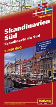 Scandinavia south, 1:850 000