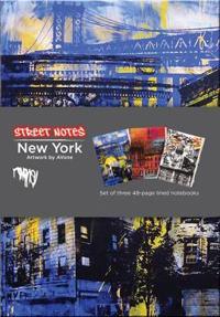 Street Notes-New York Artwork by Avone (Large Hardcover Journal)