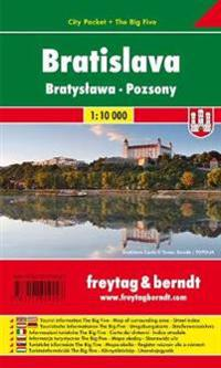 Bratislava, Stadtplan 1:10.000, City Pocket + The Big Five