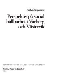 Perspektiv på social hållbarhet i Varberg och Västervik