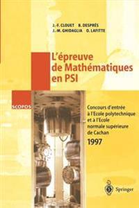L'�preuve de Math�matiques En Psi