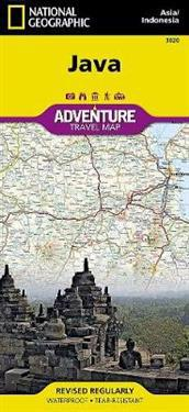 National Geographic Java Indonesia Map