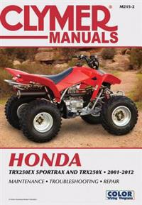 Clymer Manuals Honda TRX250EX Sportrax / TRX250X 2001-2012