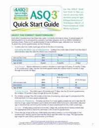 Ages & Stages Questionnaires (R) (ASQ-3 (R)): Quick Start Guide (English)