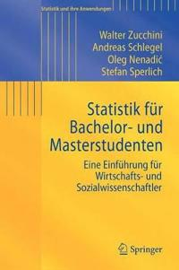 Statistik Fur Bachelor- Und Masterstudenten