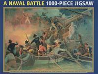19th Century English School: A Naval Battle