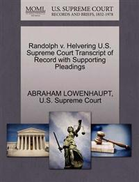 Randolph V. Helvering U.S. Supreme Court Transcript of Record with Supporting Pleadings