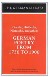 German Poetry from 1750 to 1900