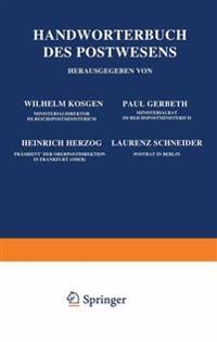Handw rterbuch Des Postwesens